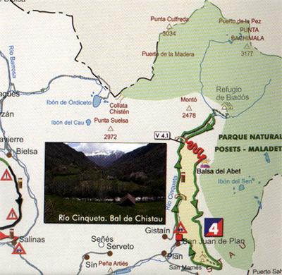 mapa btt