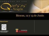 cartel jornadas quesos aragón - biescas