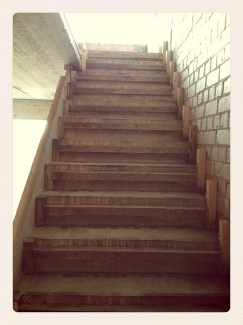 Išbetonuoti laiptai