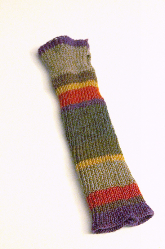 Original Fourth-Doctor-Scarf-inspired arm-warmer
