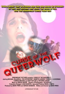 Poster for Pirromount's 1988 comedy Curse of the Queerwolf