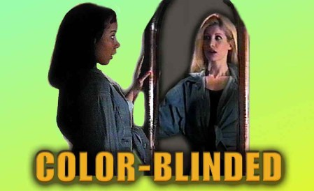 Poster for Pirromount's 1998 comedy, Color-Blinded starring Dani Leon and Luella Hill