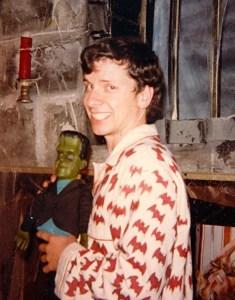"Pirro shooting ""A Polish Vampire in Burbank"" (1983) wearing his bat pajamas."