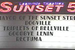 "The marquee that advertised the weekend midnight screenings of ""Rectuma"" in 2004."