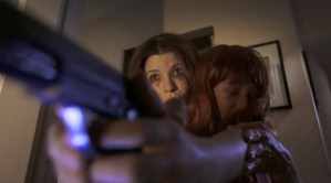 """Tammy Klein and Jessica Bassuk in a tense moment from Pirromount Pictures' """"Rage of Innocence"""" (2014)"""