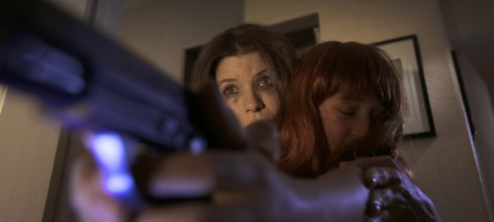 "Louise Sutton (Tammy Klein) forced to violence in ""Rage of Innocence"""