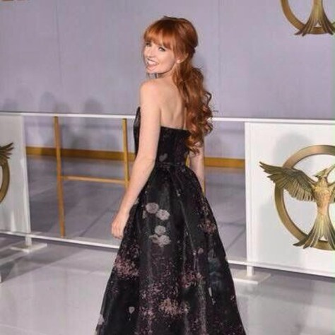 "Stef Dawson (star of ""Rage of Innocence"") at the Mockingjay Pt. 1 premiere in Hollywood - November 2014."