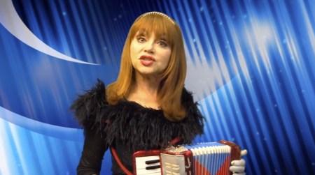 "Judy Tenuta and her accordion in Pirromount Web Series ""The World Accordion to Judy"""