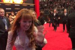 Pirromount actress Stef Dawson (Rage of Innocence) on the Mockingjay 2 premiere red carpet