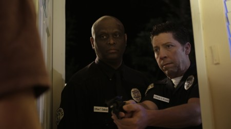 """Tyrone Dubose and Tony Cicchetti in Pirromount's """"Celluloid Soul."""""""