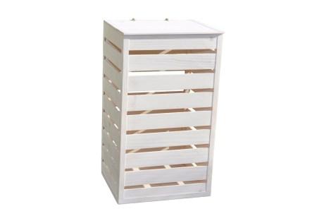 Puidust kast (pesukast), 350x300x600mm, valge