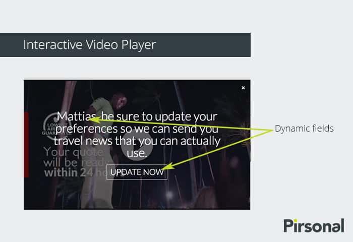 Reproductor de video interactivo personalizado: Ejemplo de llamada a la acción (CTA)