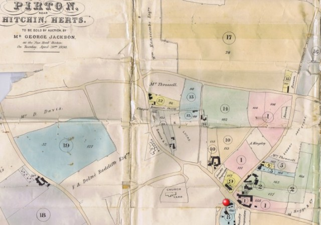 A plan of all the properties sold in the 1890 land sale