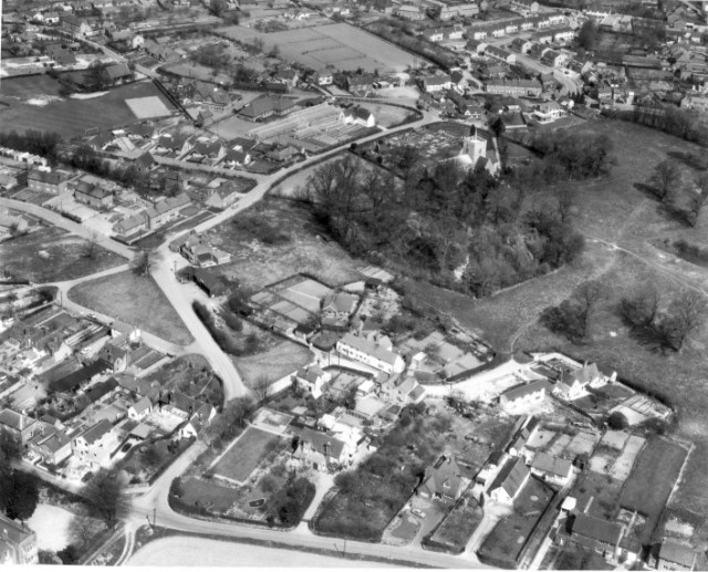 Aerial photo of Great Green circa 1964