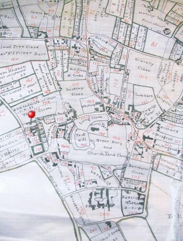 1818 Enclosure plan showing land ownership after land was exchanged