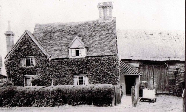 The barn on the right of the cottage.
