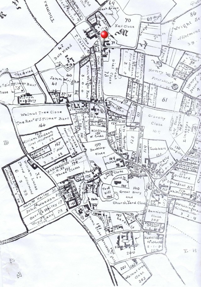 1818 Enclosure plan showing land ownership after land was exchanged.