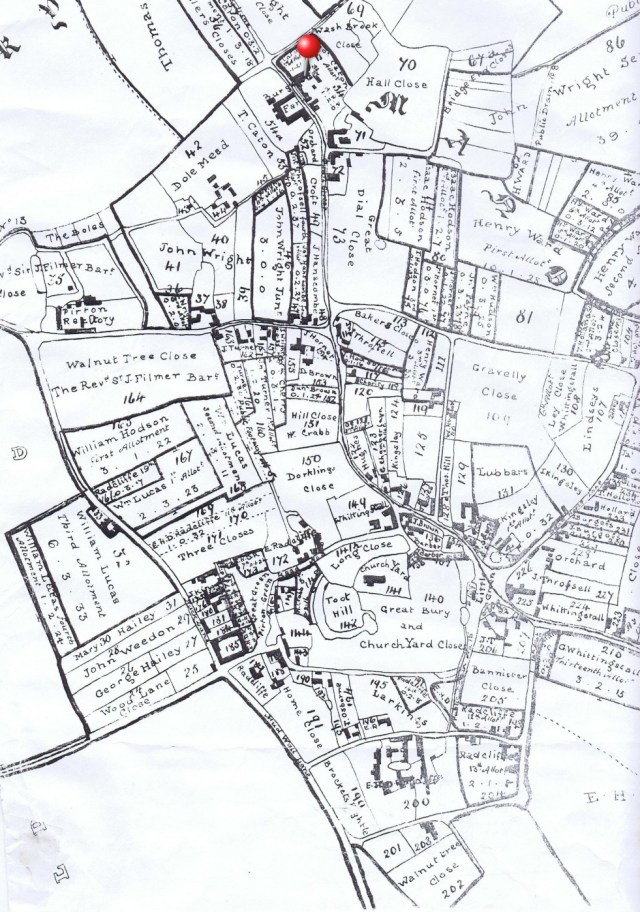 1818 Enclosure plan showing land ownership after land was exchanged