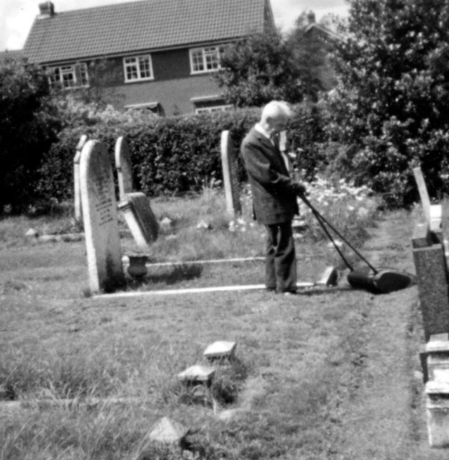 Fred Watts used to help maintain St Marys churchyard