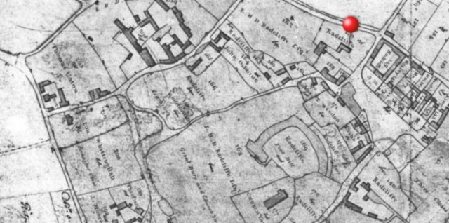 "1811 Pre enclosure plan made by the surveyors before the ""great land swap"" at enclosure"
