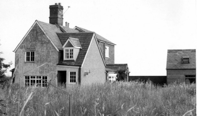 1979 Hill Farm, situated at the top of Priors Hill, is a mishmash of  four centuries of building, seen in the progressively rising roof line. In the 1851 census, it was a small holding of 60 acres, employing three labourers. It was sold with Wrights and other Pirton farms, at the large auction, in the Sun Hotel, by Jackson,s auctioneers of Hitchin. At that time the farmyard had a stable and chaff house, a cow house and granary, an open cattle shed, piggeries ,cart shed, Blacksmith's shop, henhouse and various implement sheds and a brick and timber, slated wheat barn with an oak threshing floor. This latter blew down in a storm in 1978 causing some consternation when it blocked priors Hill in the dim morning light. The police had to be called in. Owned and farmed by the Walker family, it was sold without the land in 1976.