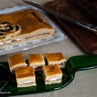 Empanada fácil de cecina y queso de cabra