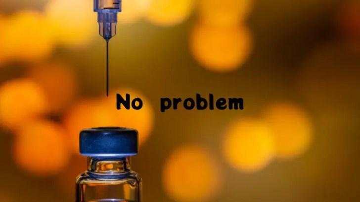 コロナワクチンと注射器