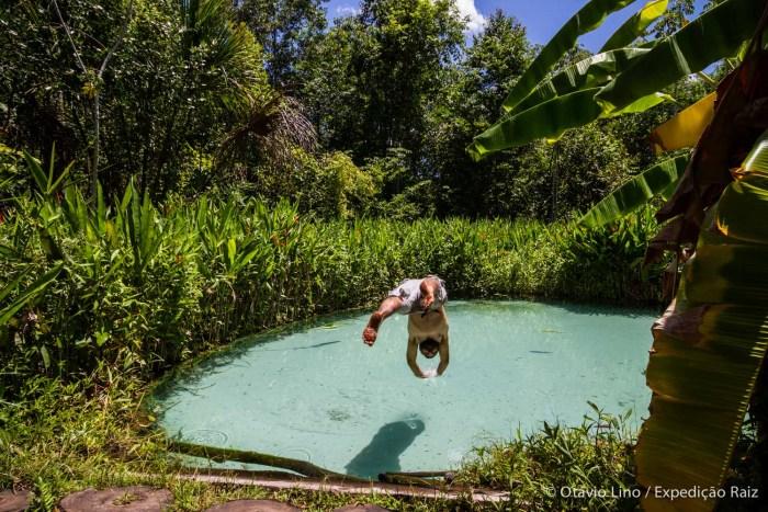 Fervedouro dos Buritis, um dos mais bonitos do Jalapão.