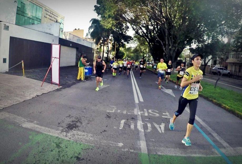 Parte de la Ruta en el Medio Maratón Atlas