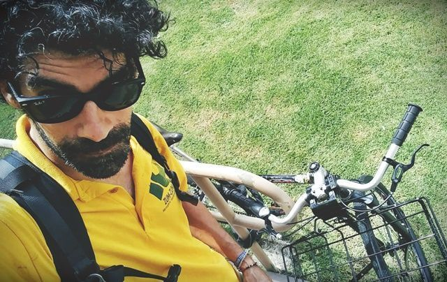 La bicicleta es tranporte y herramienta de trabajo.