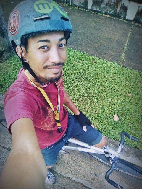 Siempre en bicicleta al trabajo.
