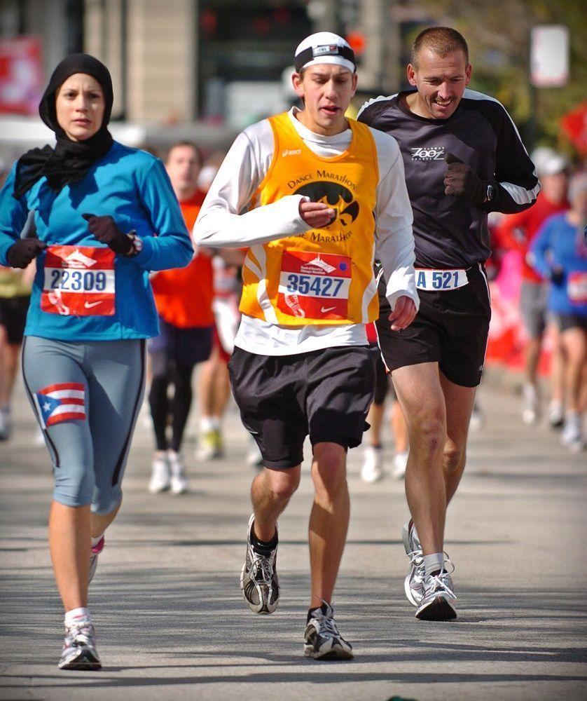 Foto del Maratón de Chicago original, comprada 6 años después.