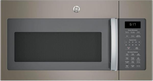 Ge - 1.7 Cu. Ft. Over-range Microwave Slate Pacific
