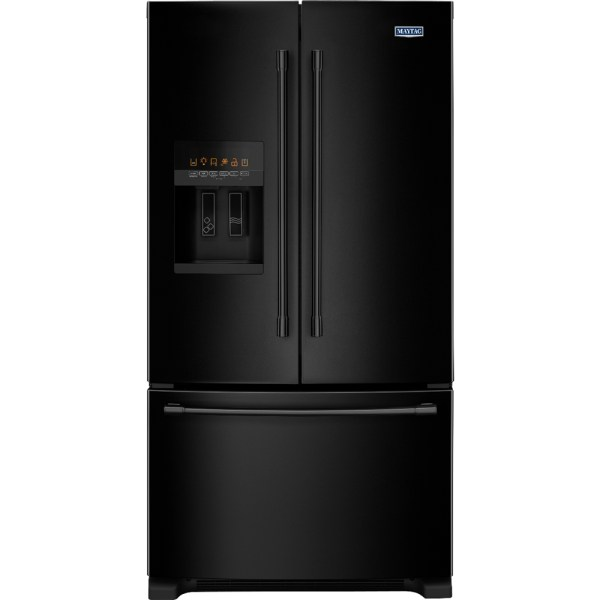 Maytag - 24.7 Cu. Ft. French Door Refrigerator Black Pacific