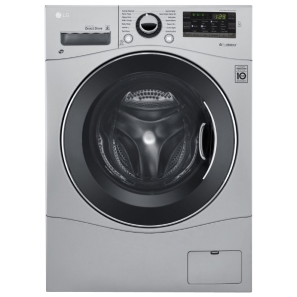 Lg - 2.3 Cu. Ft. 14-cycle Compact Front-loading Washer And Electric Dryer Combo Silver
