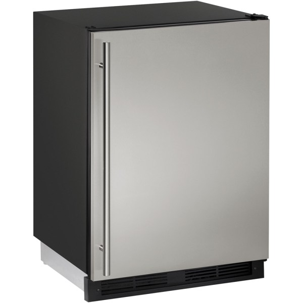 U-line - Combo 1000 Series 5.7 Cu. Ft. Built-in Compact Refrigerator Stainless Solid