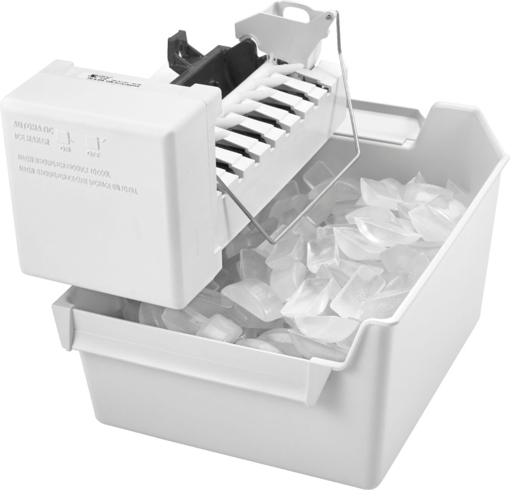 medium resolution of whirlpool icemaker kit for most whirlpool amana and jenn air side by side refrigerators white eckmfez2 best buy