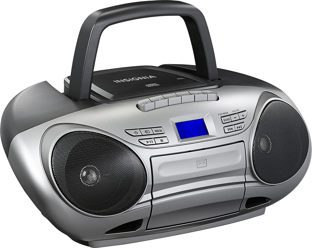 hight resolution of insignia cd cassette boombox with am fm radio black gray ns bcdcas1 best buy