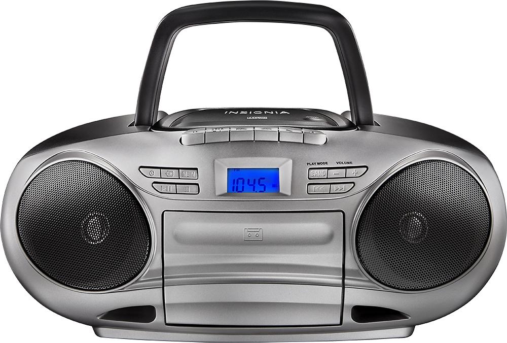 insignia cd cassette boombox