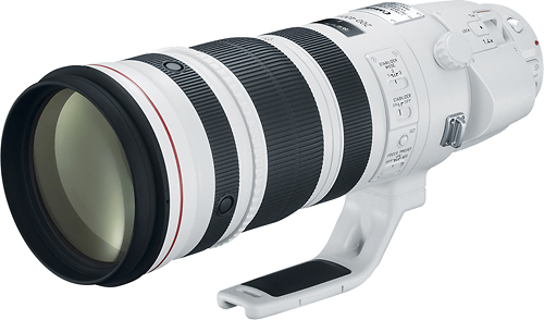 Canon - EF 200-400mm f/4L IS USM Super Telephoto Lens for Most Canon EOS SLR Cameras - White