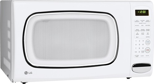 lg 1 4 cu ft mid size microwave white