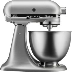 Kitchen Aid Silver Stainless Steel Wall Panels For Commercial Kitchenaid Classic Stand Mixer Front Zoom