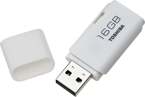 Toshiba - 16GB USB 2.0 Flash Drive - White - Angle