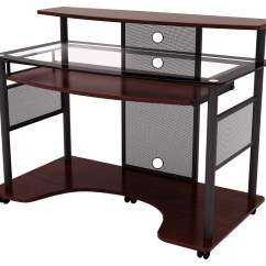 Red Desk Chair No Wheels Dining Room Leg Protectors Z Line Designs Cyrus Computer Multi Zl2200 01wsu