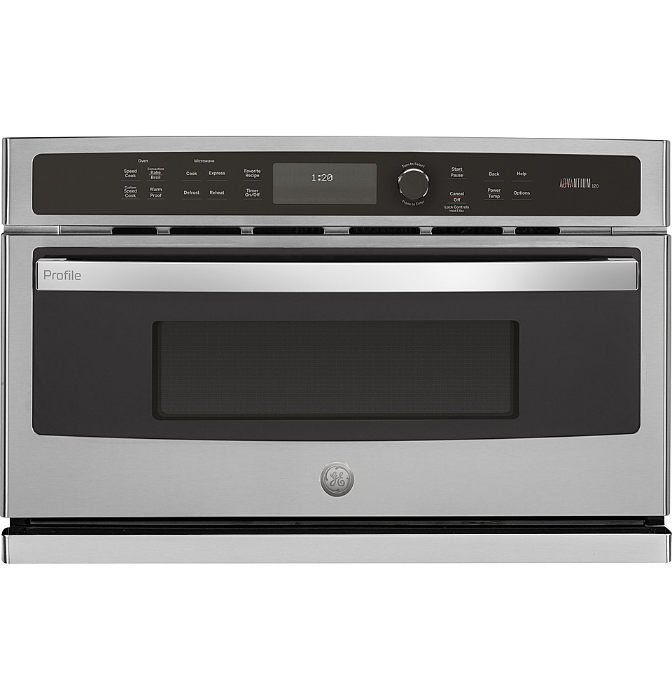 ge profile advantium 30 built in single electric wall oven stainless steel