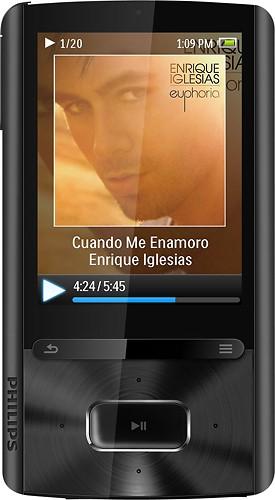 Best Buy Philips GoGear Ariaz 8GB MP3 Player Black