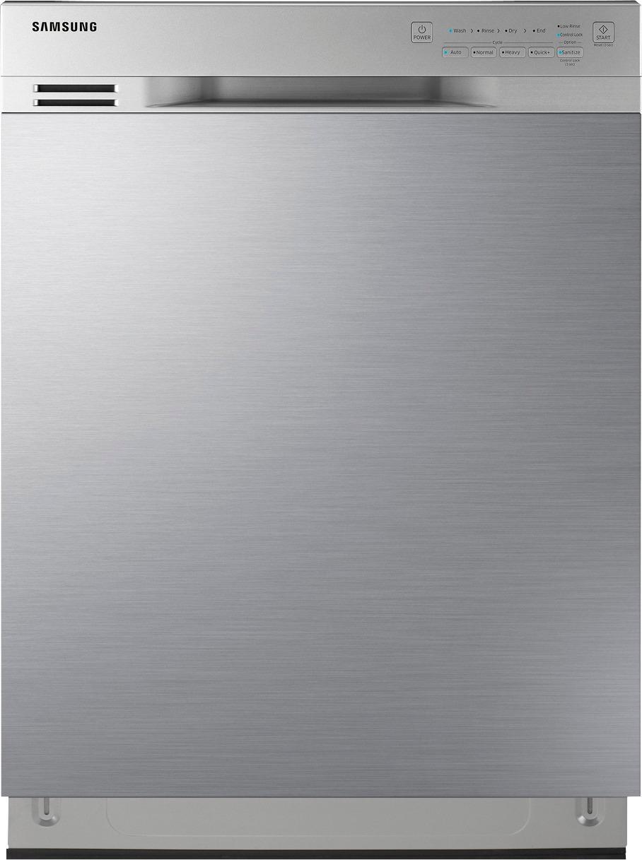 Samsung Dishwasher Kick Plate : samsung, dishwasher, plate, Samsung, Front, Control, Built-In, Dishwasher, Stainless, Steel, DW80J3020US