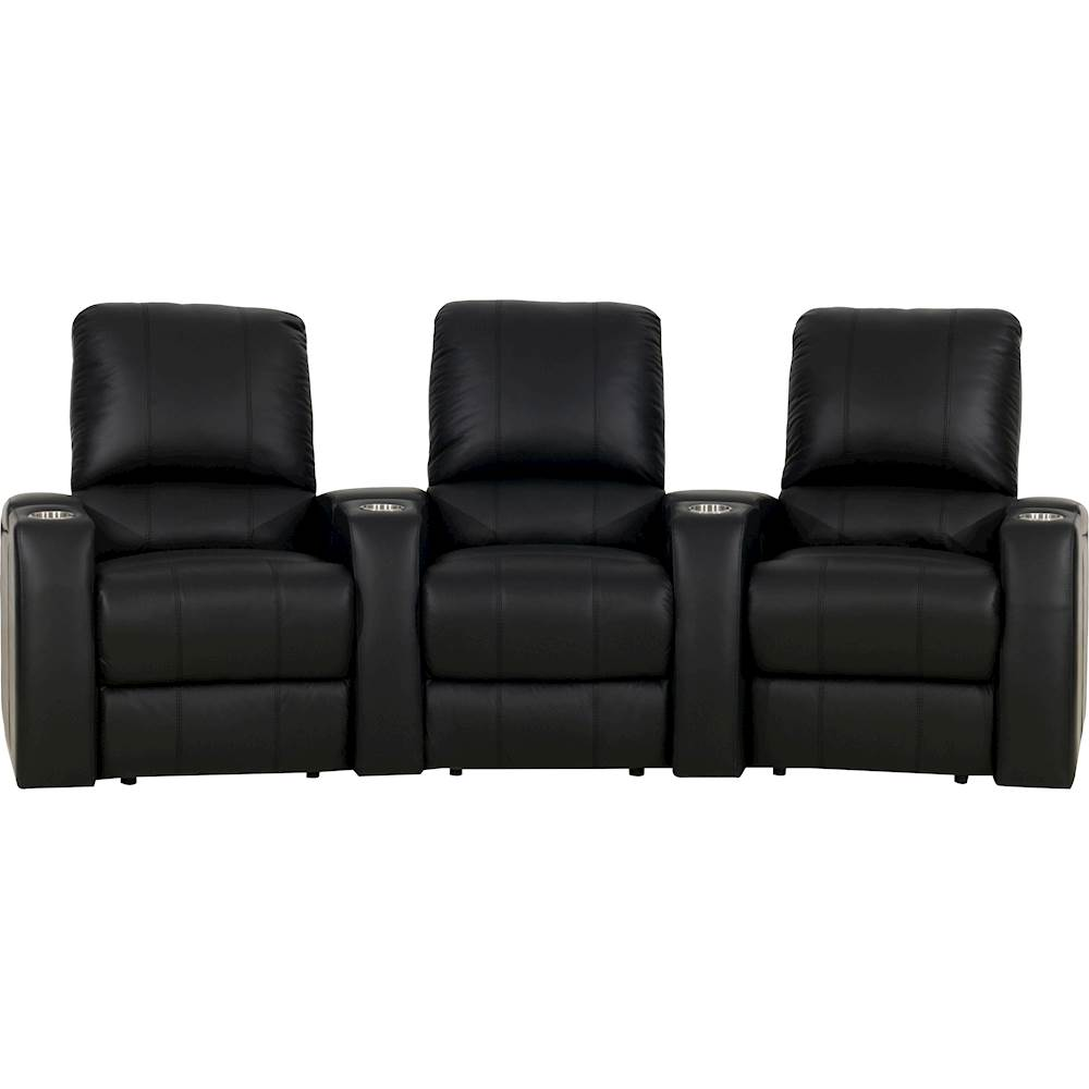theater chairs best buy wholesale barber octane seating magnolia curved 3 seat manual recline home black