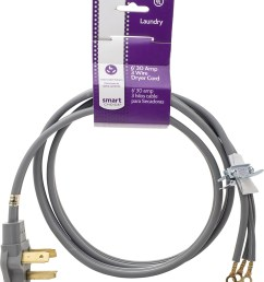 smart choice 6 30 amp 3 prong dryer cord required for hook up black 53055 1014 best buy [ 888 x 1000 Pixel ]