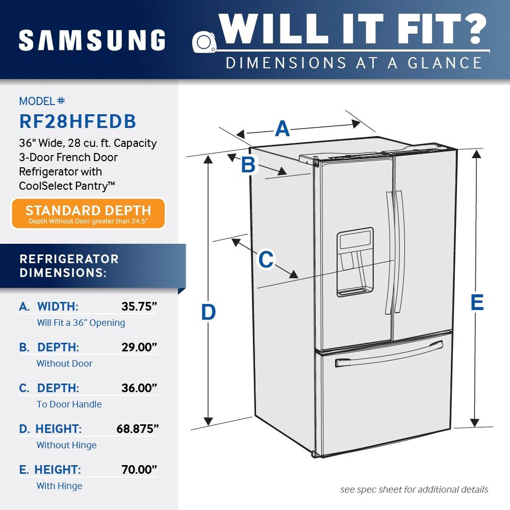 medium resolution of samsung 28 1 cu ft french door refrigerator with thru the door ice and water silver rf28hfedbsr best buy